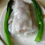 Steamed pork in rice crepe