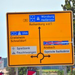Ansbach is under construction, reroute!